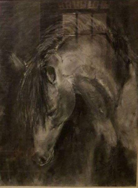 fusain-cheval